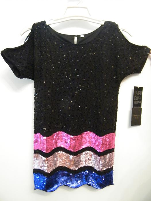 Hand Embroidered Embellished Top Dress - Tween Young Girls Clothing - Sequin & Beads