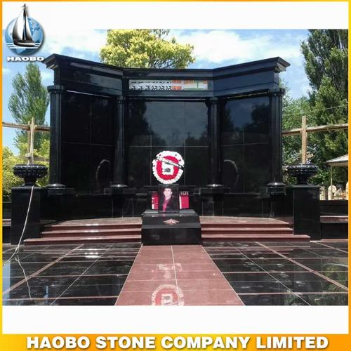 Big Shanxi Black & India Red Granite Family Mausoleum Design