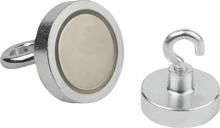 Magnets Shallow Pot With Hook Ndfeb - Magnets