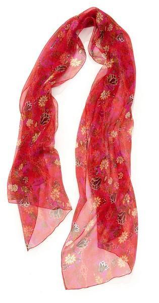 Mouss imprimée fleurs indiennes - col 2 - rouge