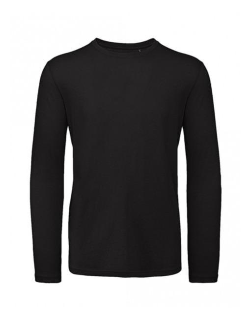 T-shirt 100% cotone organico uomo manica lunga - T-shirt uomo a manica lunga, tessuto in cotone organico di qualita' superiore