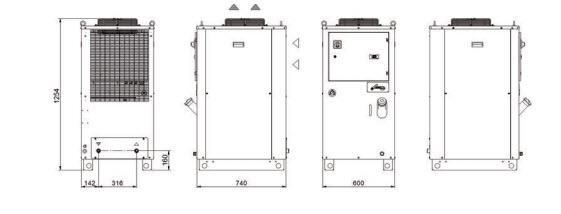 Tal24-37 Grandezza 1 Refrigeratori Industriali Per Acqua - LINEA REFRIGERAZIONE