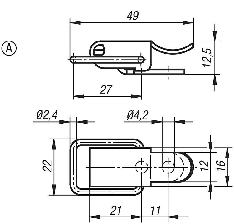 Latches With Draw Bail - Toggle clamps Pneumatic clamps Accessories for clamps Latches Quarter-turn locks