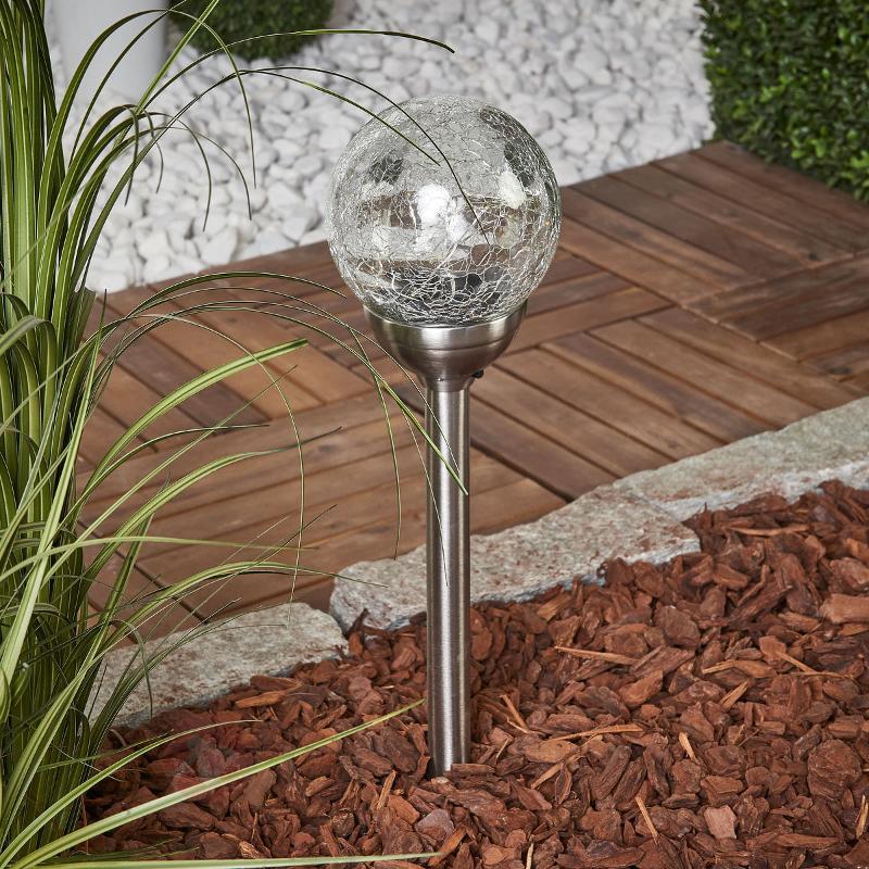 Lampe solaire à piquet Glory avec boule en verre - Lampes décoratives d'extérieur