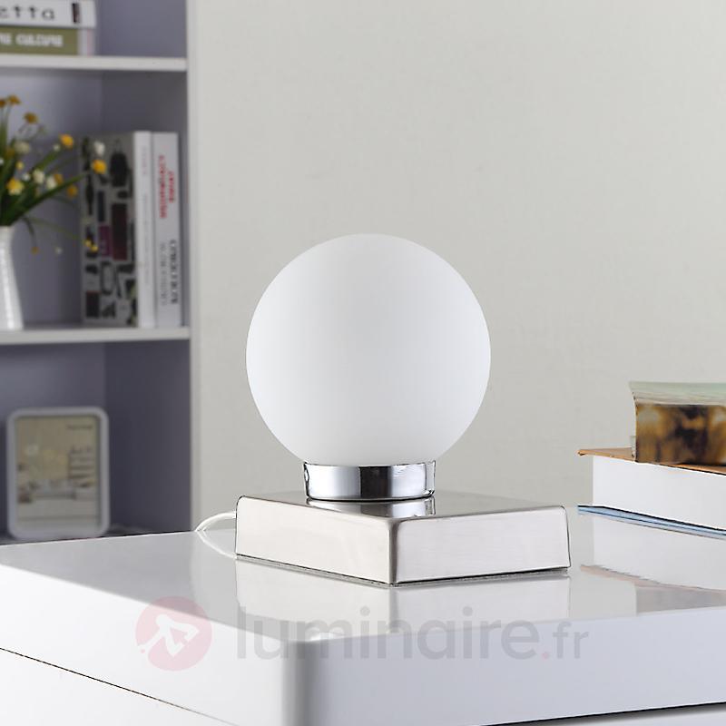 Lampe à poser Naomi avec globe en verre - Lampes de chevet