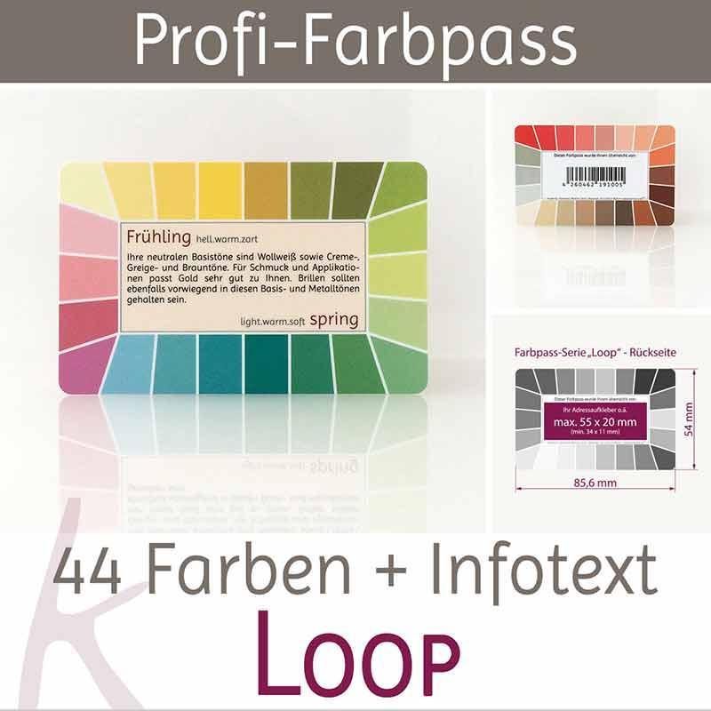 Karten-Farbpass Loop - Farbtyp Frühling