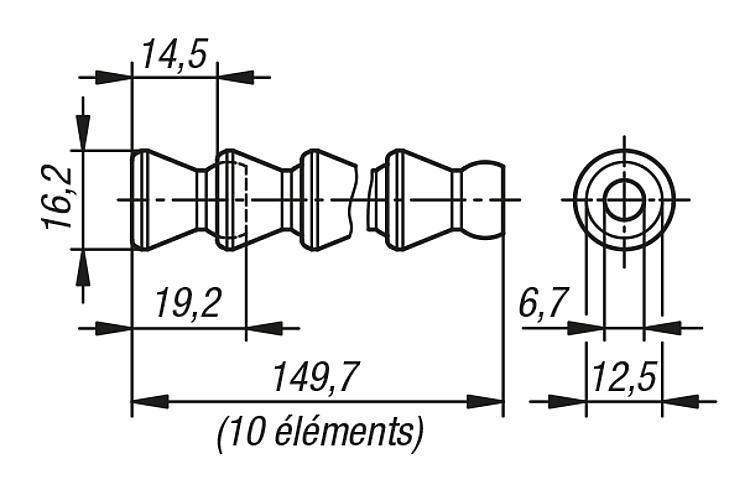 Tuyaux pour réfrigérant lubrifiant LOC-LINE® Flexi - Rubans de précision Etiquettes et pochettes magnétiques Filets de...