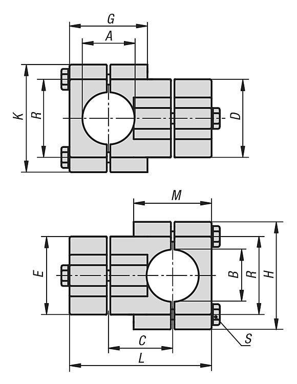Morsetti a croce alluminio - K0472