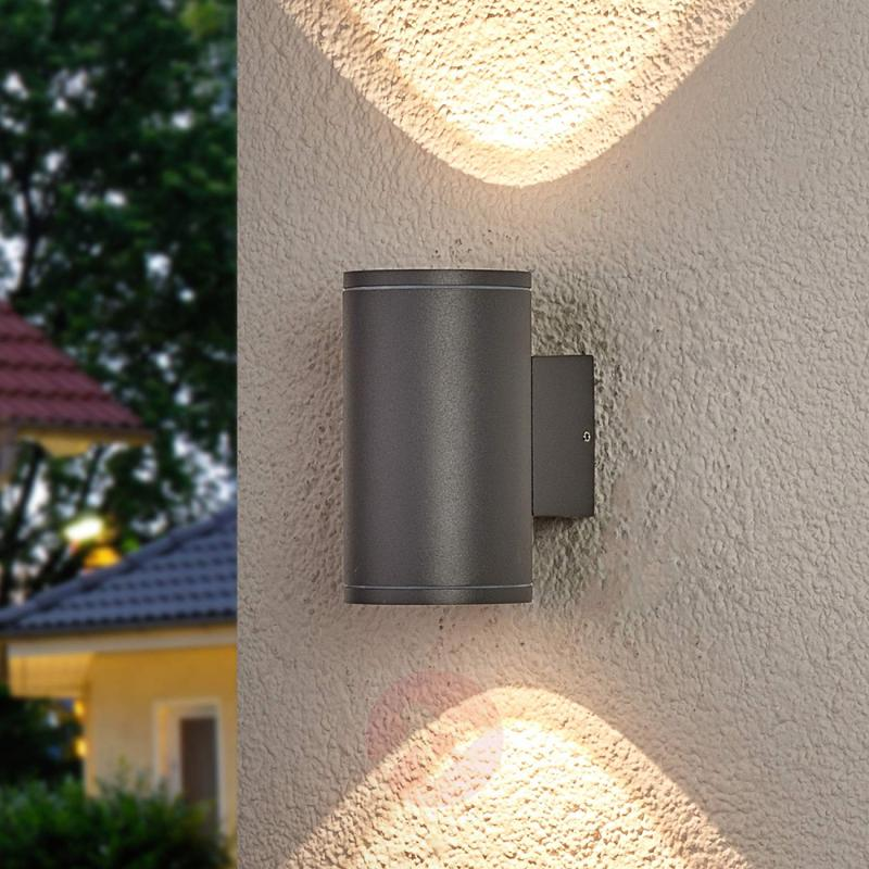 Two Light Round Led Outdoor Wall Nuria Lights