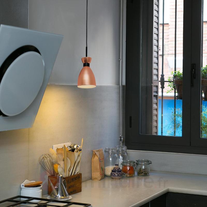 Suspension Retro stylée, finition cuivre - Cuisine et salle à manger