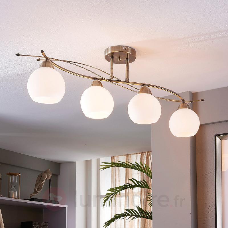 Plafonnier à quatre lampes Leanda - Plafonniers classiques, antiques