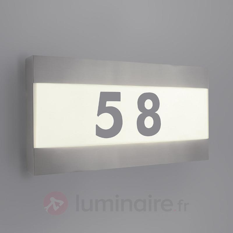 Luminaire LED avec numéro de maison Greenyard - Numéros de maison lumineux