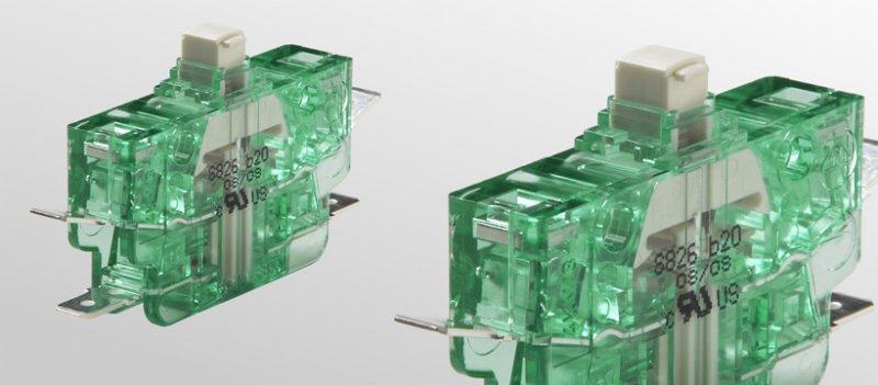 Schnappschalter S826 - Schnappschalter mit Zwangsöffnung und selbstreinigenden Doppelkontakten