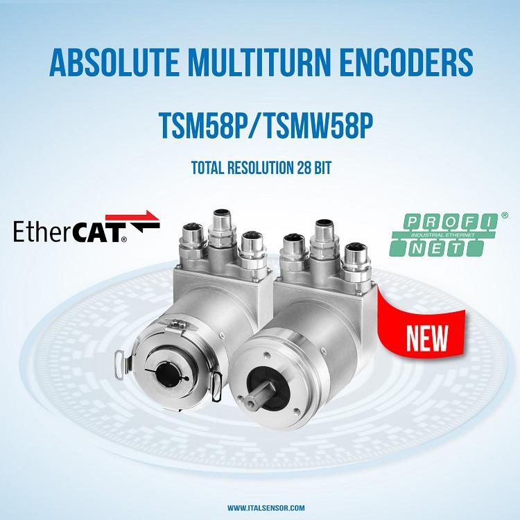 ABSOLUTE MULTITURN ENCODER TSM58P PROFINET/ETHERCAT