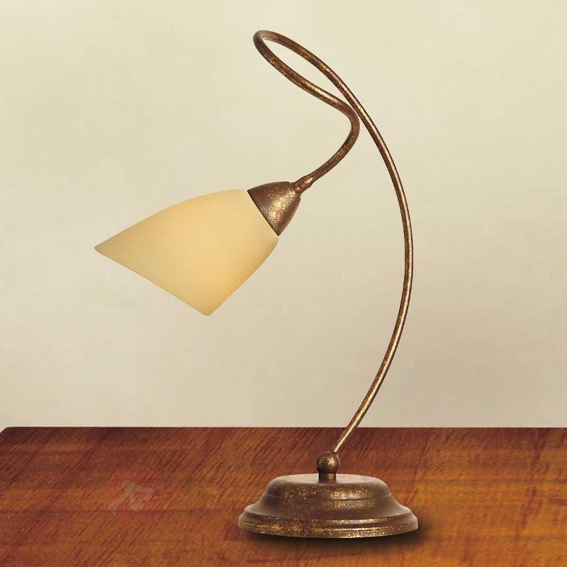 Lampe à poser Alessandro brun antique - Lampes à poser classiques, antiques