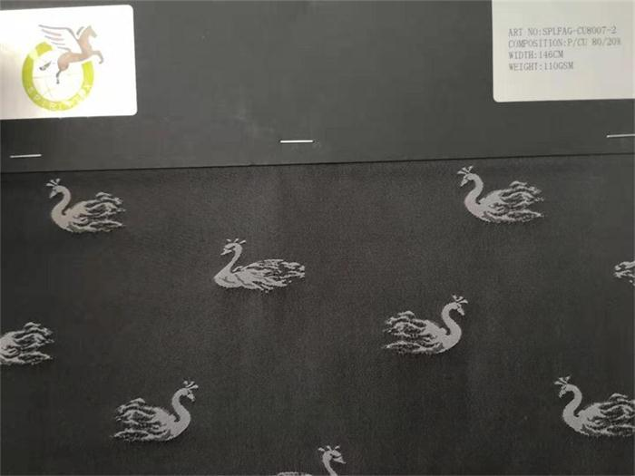 cuprammnion blend polyester fabrics - good handfeeling with jacquard design