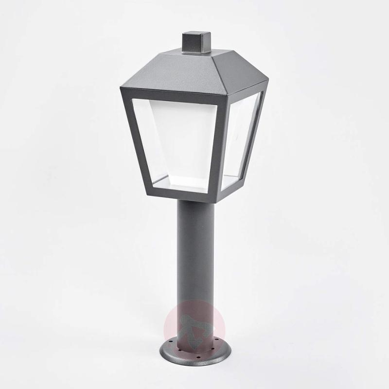 Keralyn - LED pillar lamp in dark grey - outdoor-led-lights