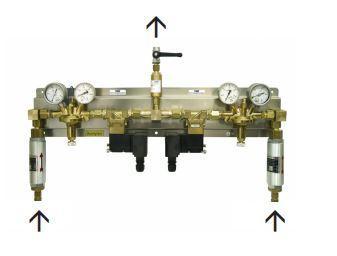 CENTRALES D'INVERSION 684NGA  - pour acétylène, jusqu'à 10 m3 /h (automatique)