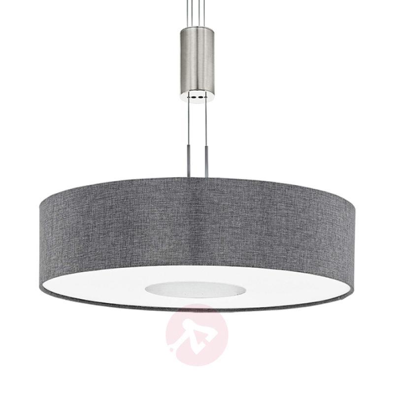 Height-adjustable fabric LED pendant light Romano - indoor-lighting