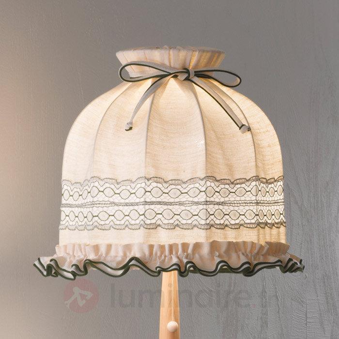 Lampadaire Elsa en tissu orné de broderies - Lampadaires en tissu