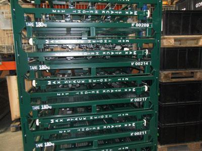 Contentores e Racks metálicos -