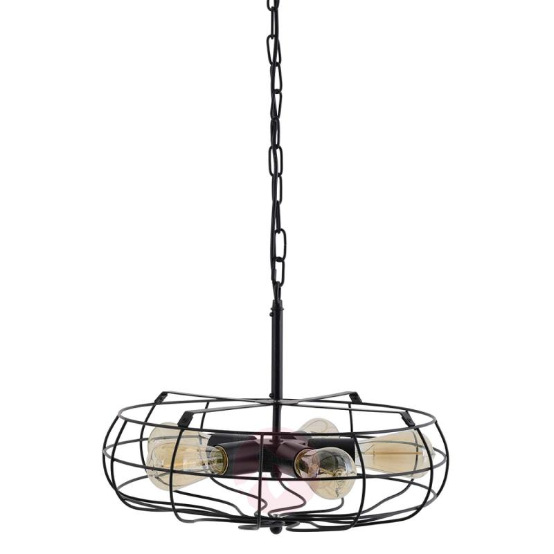 5-bulb pendant lamp Ruby with grid-like lampshade - indoor-lighting
