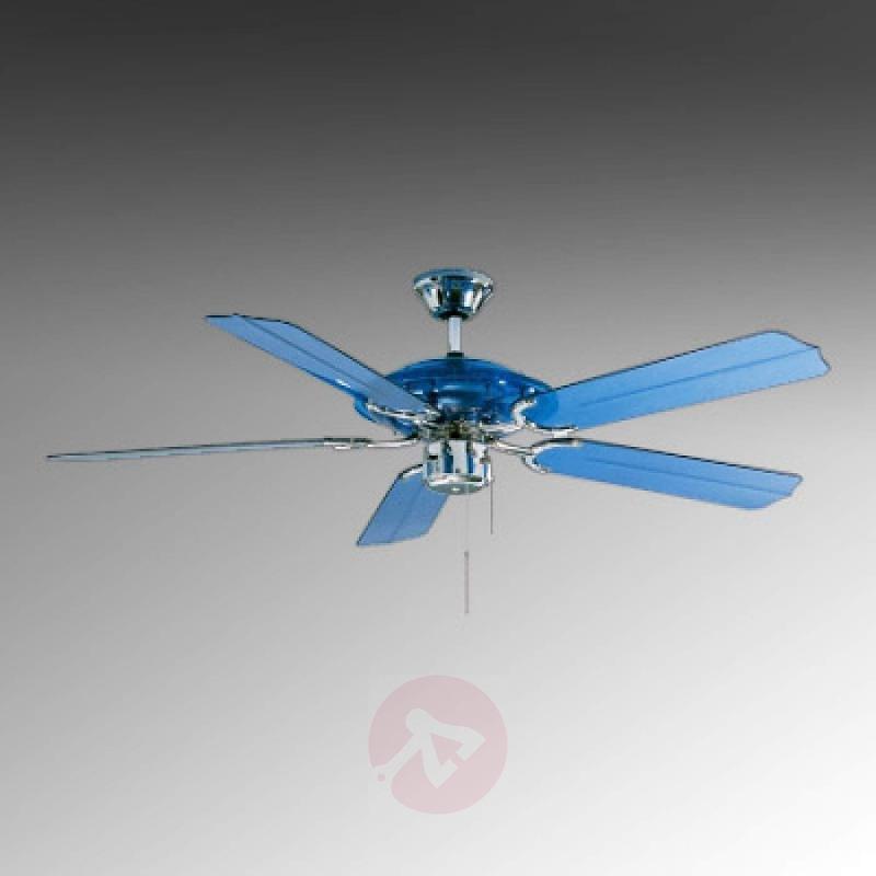 Blue Angel ceiling fan, blue with LED light - fans