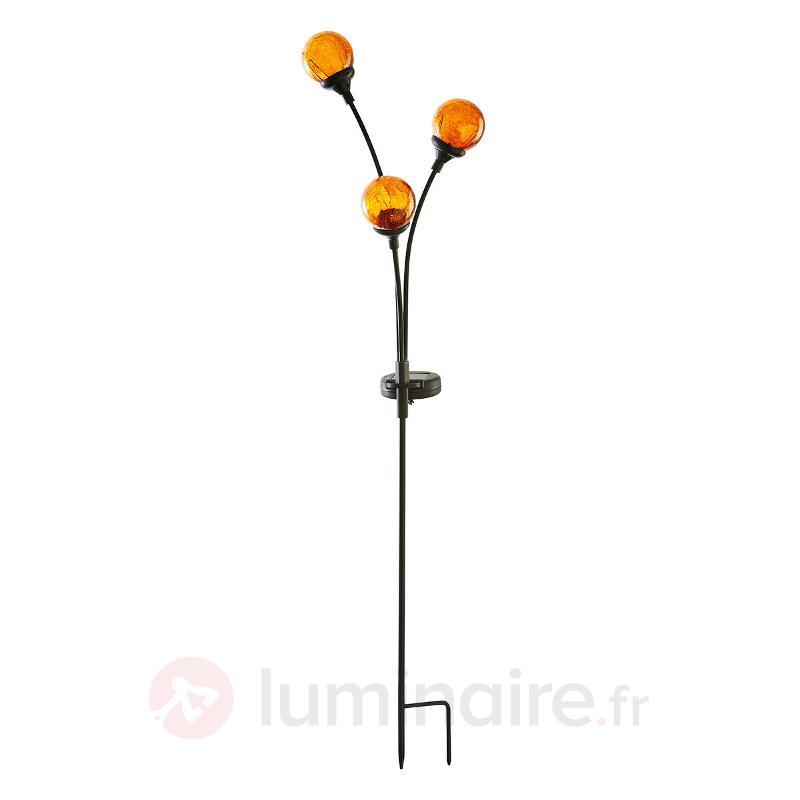 Lampe solaire décorative Trieste avec trois boules - Lampes décoratives d'extérieur