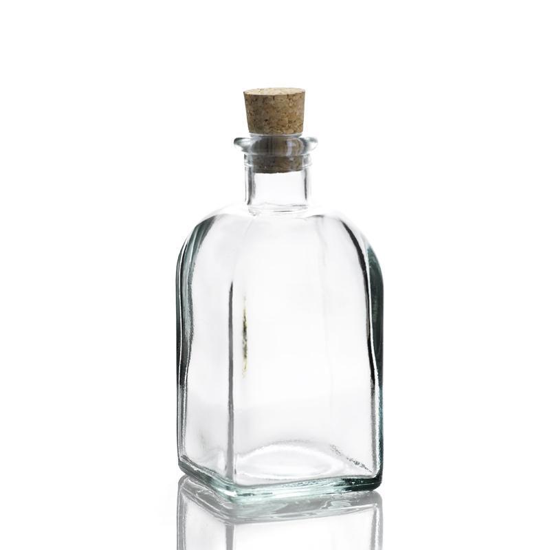 6 bouteilles 250 ml Frasco Carrée en verre recyclé - Flacons et Carafes