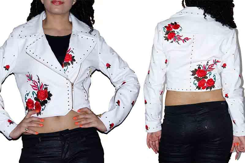 Embroidered leather jackets