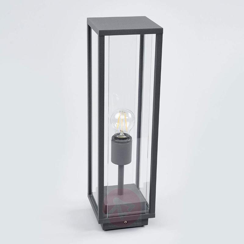 Glazed pillar lamp Annalea, graphite grey - Pillar Lights