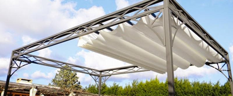 Couverture SteelDecor - Couverture de terrasse à toile manuel ou motorisé