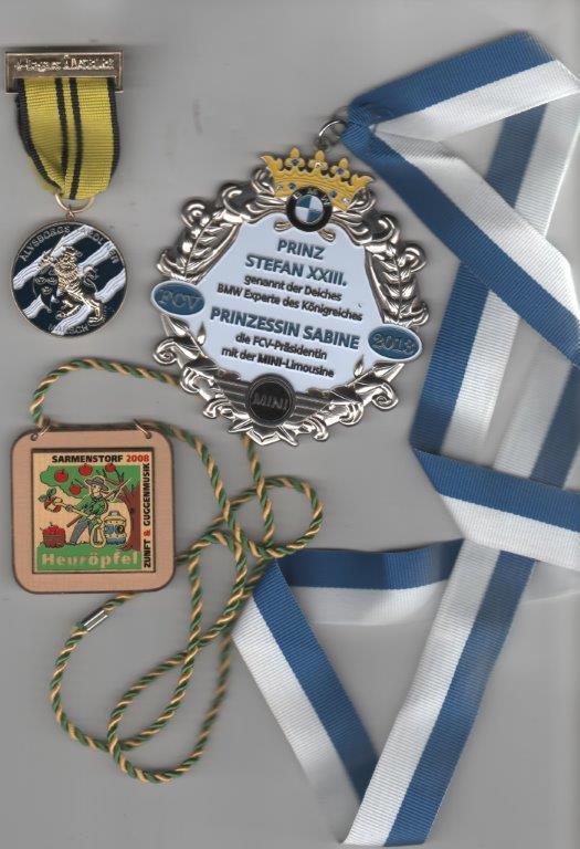 Orden, Plaketten und Medaillen, Karnevalsorden, Coins