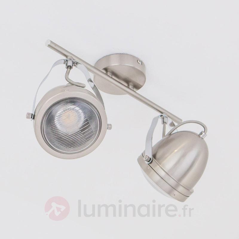 Spot attrayant Jella, nickel mat - Plafonniers chromés/nickel/inox
