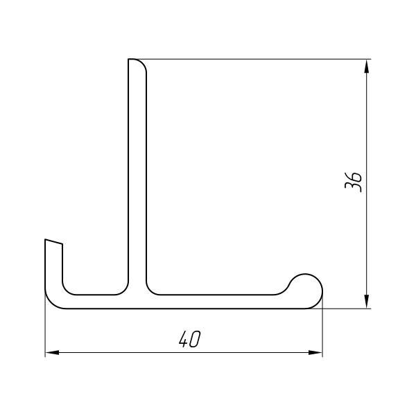 Aluminum Profile For Car And Rail Car Building Ат-1199 - Aluminum profile for mechanical engineering