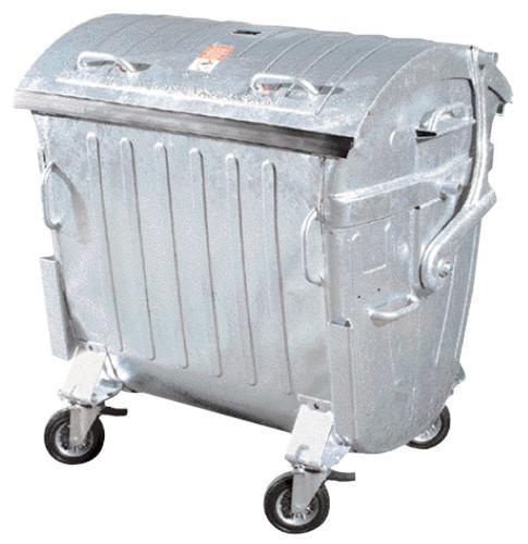 Conteneurs à déchets - GALVAnisé 1100L