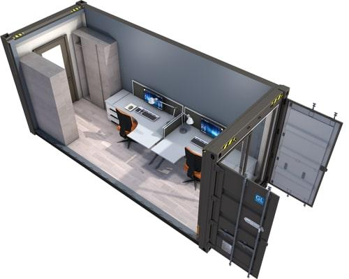Conteneur de confinement SEVESO - Module de confinement SEVESO conteneurisé