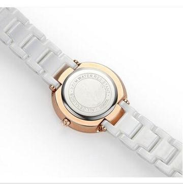 ceramic watch GCC-XXL821 in Romania for ladies  - OEM women ceramic analog watches, high quality ceramic case and band