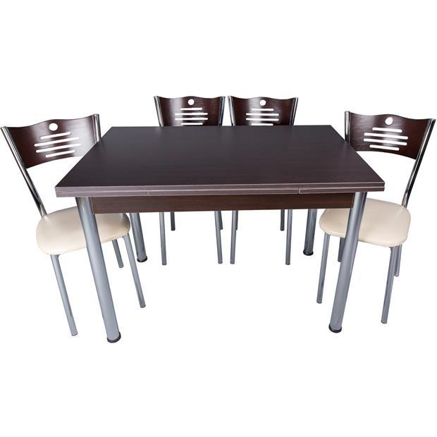 Par-Eco Wenge Table and Chair Set Pearl