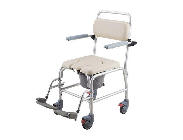Aluminum Commode Chair With Casters - JC-CM01