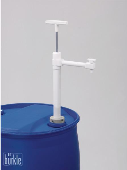 PTFE barrel pump Ultrapure - Manual pump, discharge tube or hose, for transferring ultra-pure liquids