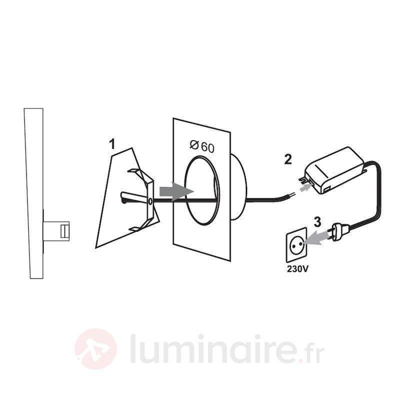 Applique LED Lania - IP44 graphite - Appliques LED