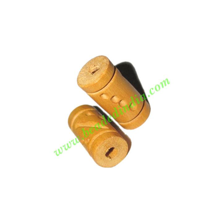 Natural Color Wooden Beads, size 10x20mm, weight approx 0.91 - Natural Color Wooden Beads, size 10x20mm, weight approx 0.91 grams