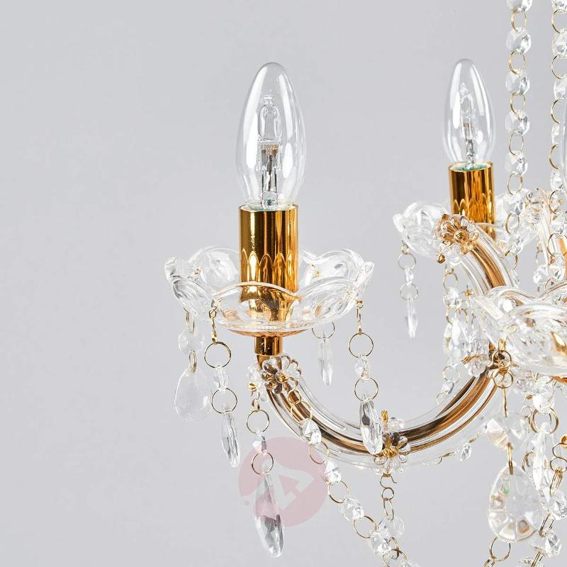 Beautiful Marie Therese chandelier, 5-fl. - Chandeliers