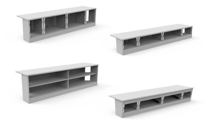 ALWO-Aufbauten - Tischaufbau, verschiedene Aufbauvarianten