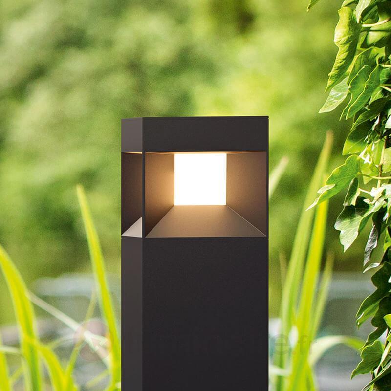 Borne lumineuse LED noire Parterre - Bornes lumineuses LED