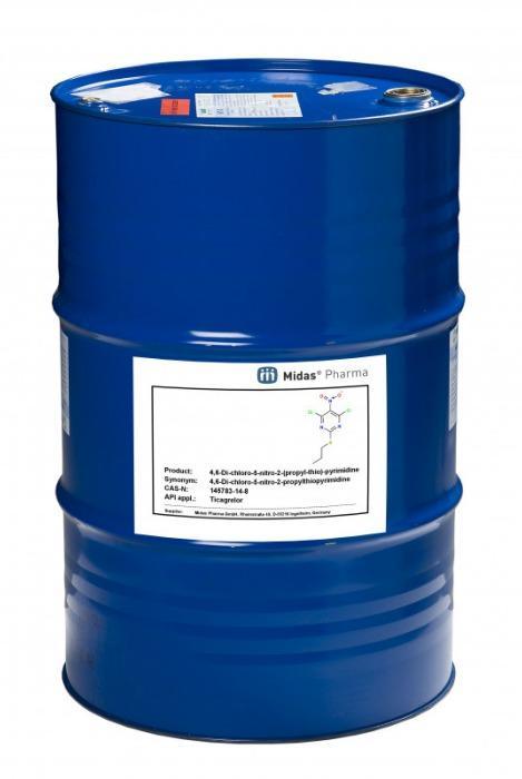 4,6-Dicloro-5-nitro-2-(propylthio)-pirimidina - 4,6-Dichloro-5-nitro-2-propylthiopyrimidina; Ticagrelor Building block
