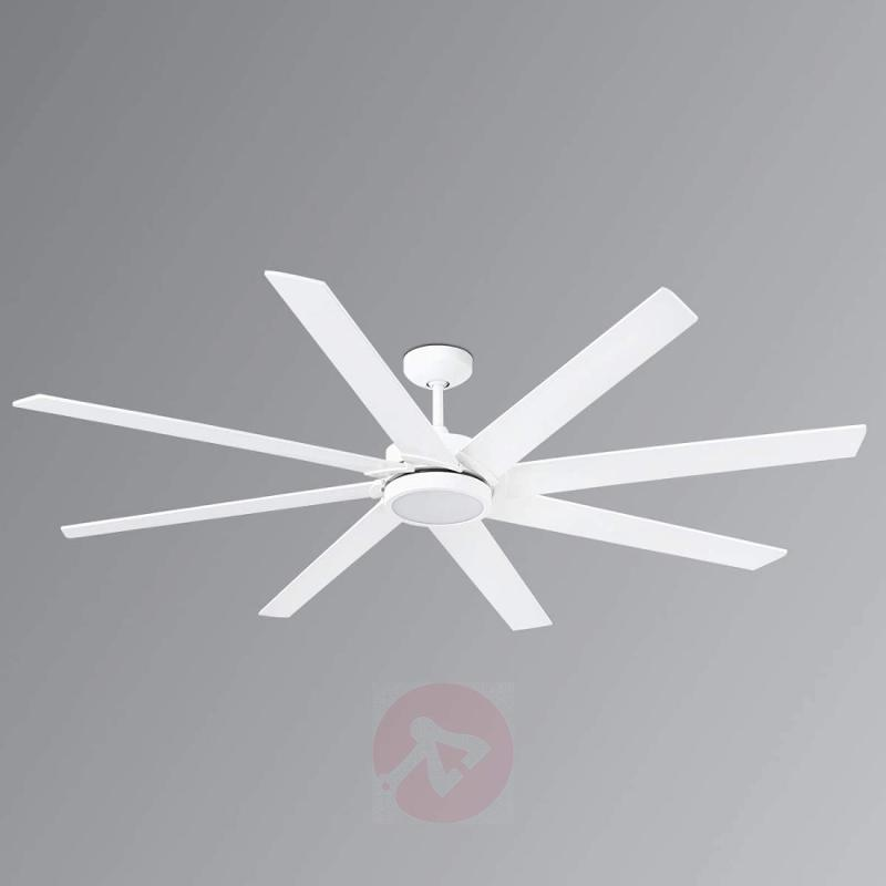 Eight-blade LED ceiling fan Century white - fans