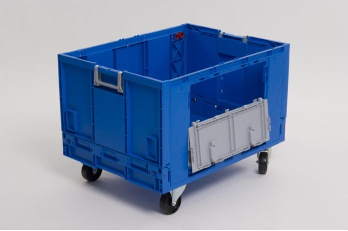 Contenitori di plastica pieghevole - con porta, 183L