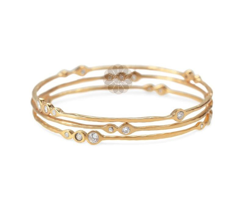 Gold Bangle Stack -